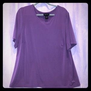 Maggie Barnes Plus 1x Purple F13 Short sleeve top